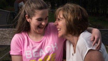 Jordanne Taylor with mum Debra at home in Kurrajong Hills, NSW.