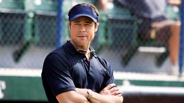 Pitt starred in baseball movie <i>Moneyball</i>.