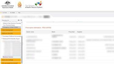 Security: E-health records, including prescription drugs, are also accessible using my.gov.au.