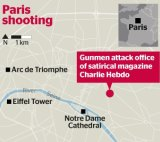 The terror target was in a central region of Paris.