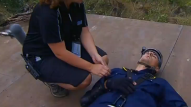 Beranrd Tomic during one of the I'm A Celebrity challenges.
