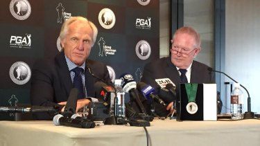 Launch time: Greg Norman at the announcement of the medal named in his honour.