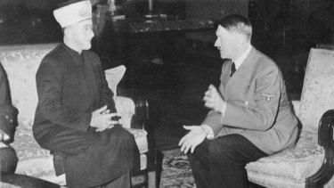 Haj Amin al-Husseini meeting Hitler in Berlin in November 1941.