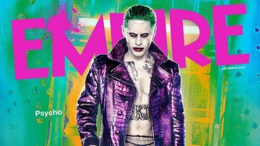 Jared Leto as the Joker on the cover of the latest Empire magazine.