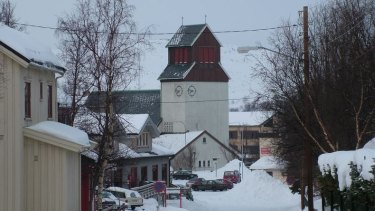 Kirkenes, Norway, where some of the migrants pass through.