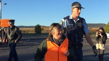 Bev Smiles was charged in April following a protest at Wilpinjong Coal Mine in the Hunter Valley.