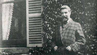 Alfred Deakin in the garden at Llanarth, South Yarra.