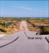 "The Waimea Street ""boat ramp""."