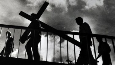 The crucifixion of Jesus was a crucial turning point in the history of Western morality.