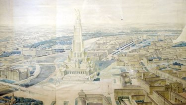 The Palace of the Soviets was to tower over Red Square as an expression of Soviet power.