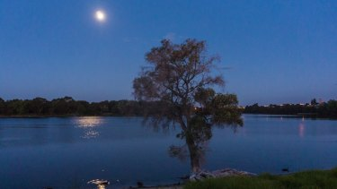 The serenity of the Swan River at night is a big attraction for blue-collar nomads.