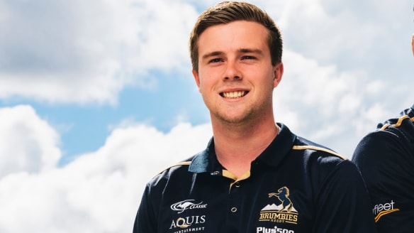 ACT Brumbies rookie Mack Hansen has to pinch himself at Super Rugby training