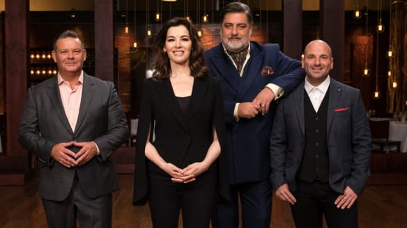 Celebrated English author and TV cook Nigella Lawson joins judges Gary Mehigan, Matt Preston and George Calombaris on <i>MasterChef Australia</i>.