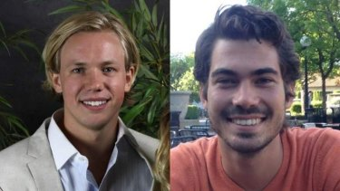 Carl-Fredrik Arndt, left, and Peter Jonsson were cycling through Stanford University when they stopped the sexual assault.