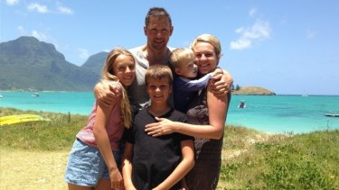 Helping hands: Tanya Plibersek with husband Michael Coutts-Trotter and their children (from left) Anna, Joe and Louis on holiday at Lord Howe Island earlier this year.