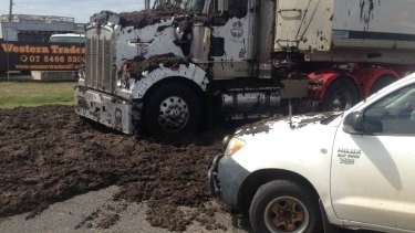 A truck carrying 27 tonnes of human waste spilled its load on Wednesday morning near Toowoomba.
