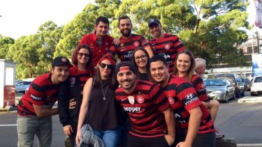 Game day: The friends have been foundation members of the Wanderers and have been there for the highs of winning the ACL, and the lows of grand final losses.
