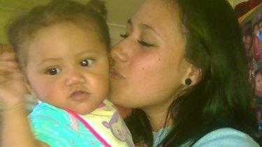 Tahlia Tauaifaga pictured with mother Helina.