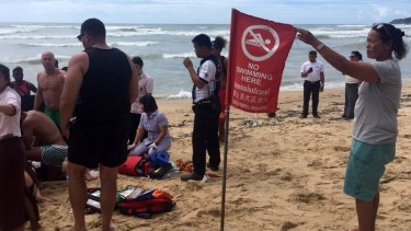 Paramedics failed to revive Australian woman Barbara Fistrovic after she became caught in strong surf on Sunday.