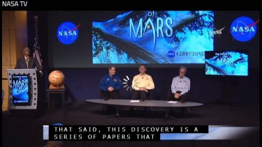 A screenshot of NASA's live stream buffering its way through a 'major' Mars announcement.
