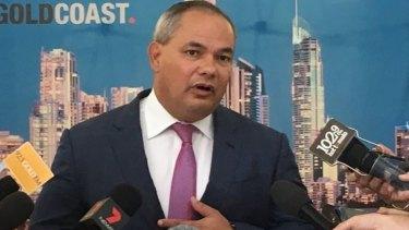 "Gold Coast Mayor Tom Tate says ""don't water down anti-bike legislation""."