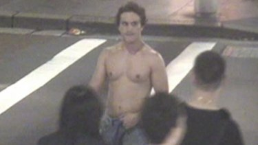 Mr Corti on CCTV on the night he died.