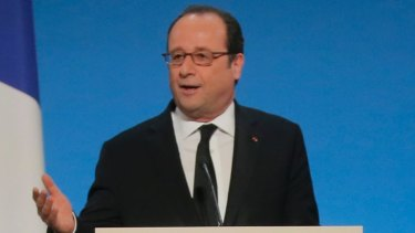 French President Francois Hollande has politely asked US President Donald Trump to show solidarity with allies.
