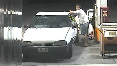 The man is believed to have stolen the number plate from another vehicle.