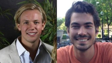 Carl-Fredrik Arndt and Peter Jonsson, the two 'male heroes' in the Stanford rape case.