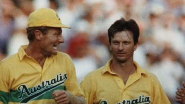 Peter Taylor, left, became a fixture of Australia's one-day team.