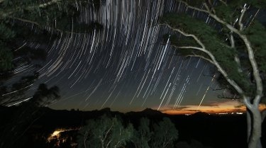 The stars at night in Warrumbungle National Park.