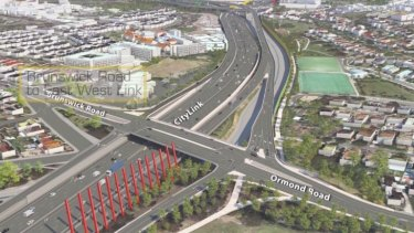 Video still of East West Link impression.