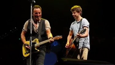Nathan Testa played alongside Bruce Springsteen last Thursday night.
