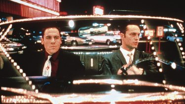 Breakthrough film: Jon Favreau, left, and Vince Vaughn in <i>Swingers</i>.
