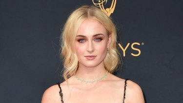 Sophie Turner at the 68th Primetime Emmy Awards on Sunday in Los Angeles.