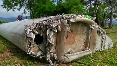 The confirmed MH370 debris found on Reunion Island.