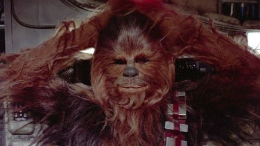 'The creature I liked most in the film was not human...' Chewbacca (Peter Mayhew) in Star Wars.