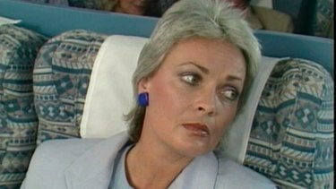 Rowena Wallace in character as 'Pat the Rat'.