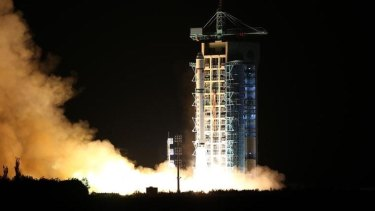 China's first quantum satellite prepared for launch in August 2016.