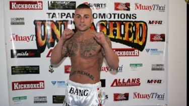 """Antonio Bagnato - also known as """"Tony Bang"""" - when he fought muay thai in Sydney's south in 2012."""
