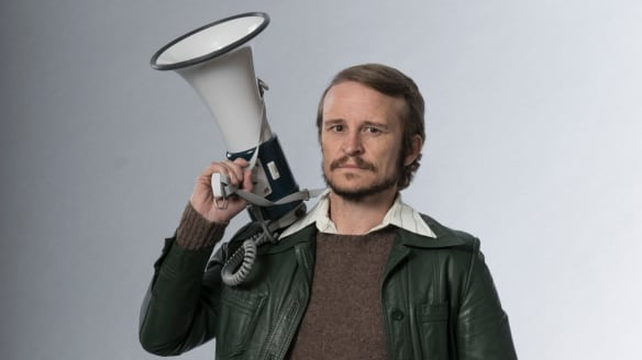 Damon Herriman plays activist Lance Gowland in <i>Riot</i>.
