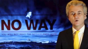 A still from an anti-immigration campaign by controversial Dutch politician Geert Wilders.