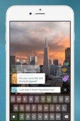 The Periscope app.