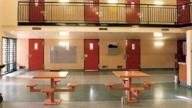 Cells at the Woodford Correctional Centre:
