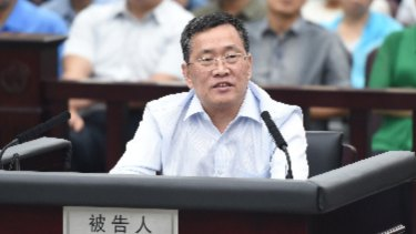Zhou Shifeng, of Beijing-based Fengrui Law Firm, seen here in the dock, has been sentenced to seven years' jail for subversion.