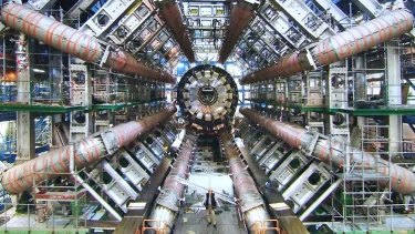 The Large Hadron particle accelerator at CERN, Switzerland.