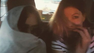 """A photo from Schapelle Corby's Instagram captioned: """"Almost at the airport.. with my @mercedescorby""""."""