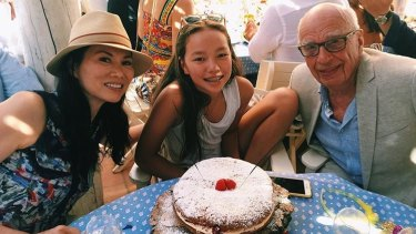 Wendi Deng and Rupert Murdoch celebrated their youngest daughter's birthday (Chloe, pictured) together.
