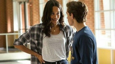 High-school crush: Laura Harrier and Tom Holland.