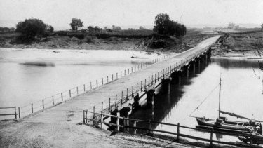 The heritage-listed Windsor Bridge over the Hawkesbury River was constructed in 1874.